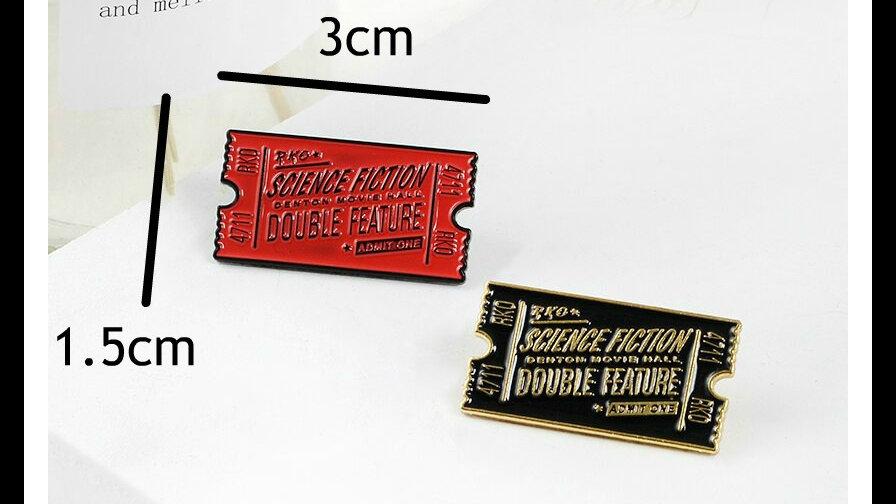Retro Rocky Horror Ticket Lapel pin