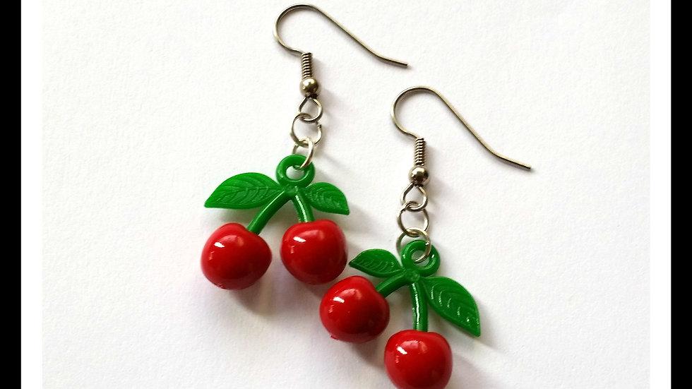 Rockabilly Cherry Earrings
