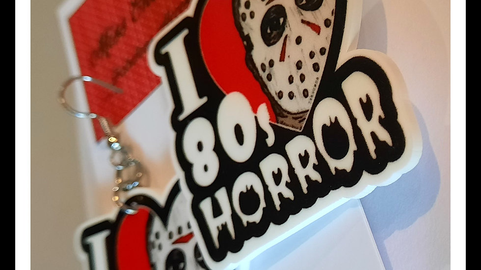 I Love 80's Horror Planar Resin Earrings