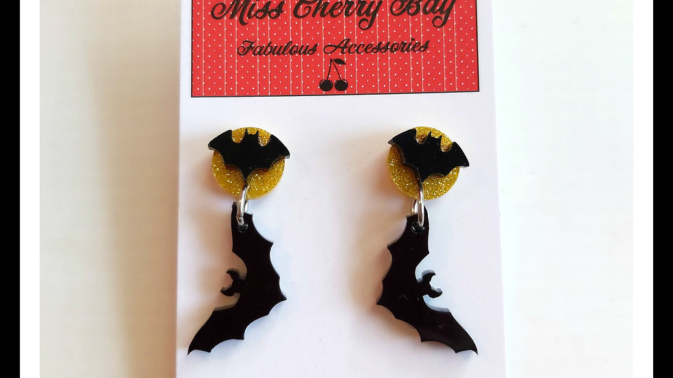Batty Moon Earrings