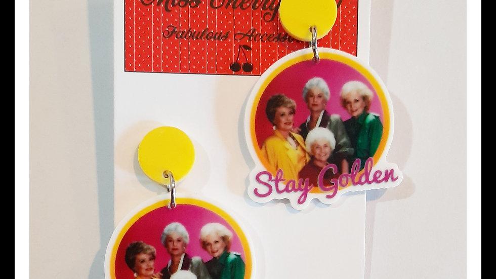 Golden Girl Planar Resin earrings