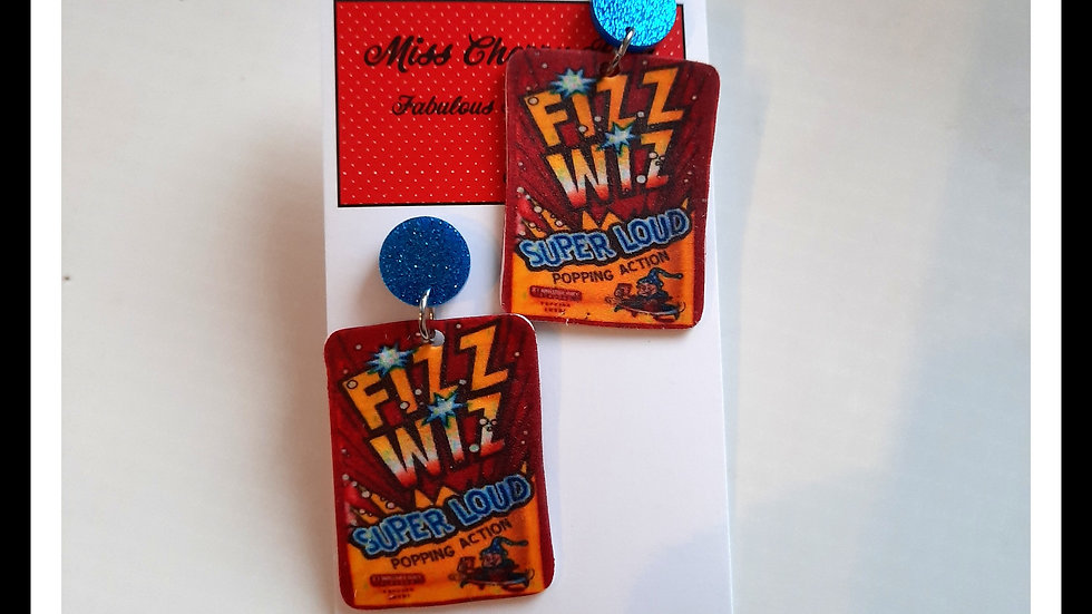 Fizz Wiz Shrink Plastic Earrings