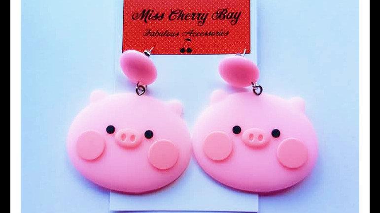 Pinky Pig Earrings