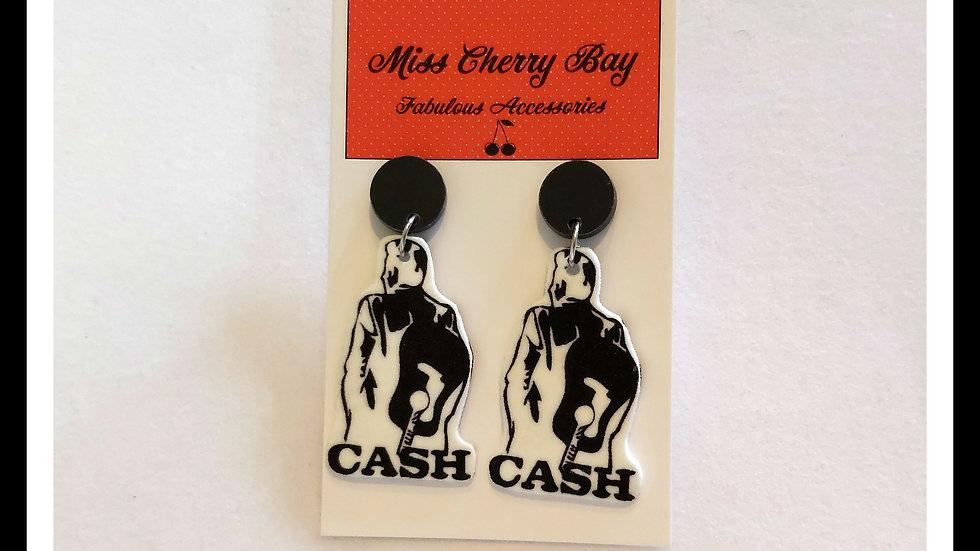 Johnny Cash Earrings