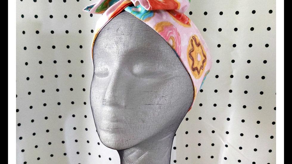 Donut print Rosie Hair Wraps