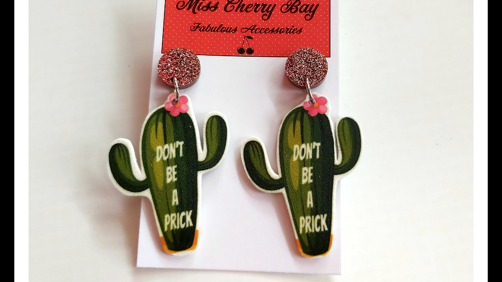Don't Be A Prick Shrink Plastic Earrings