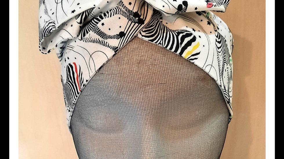 Fabulous Zebra Print Rosie Hair Wraps