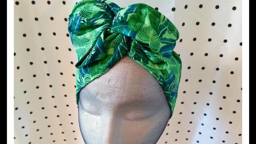 Monstera Leaf print Rosie Hair Wraps