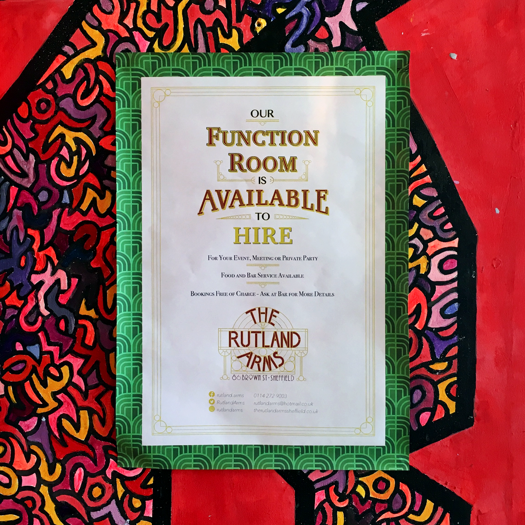 our function room is free to hire