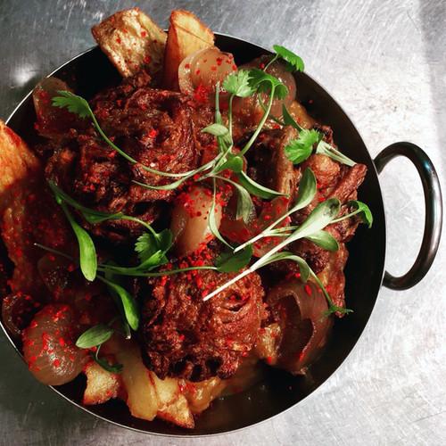bhaji fries - vegan (main menu)