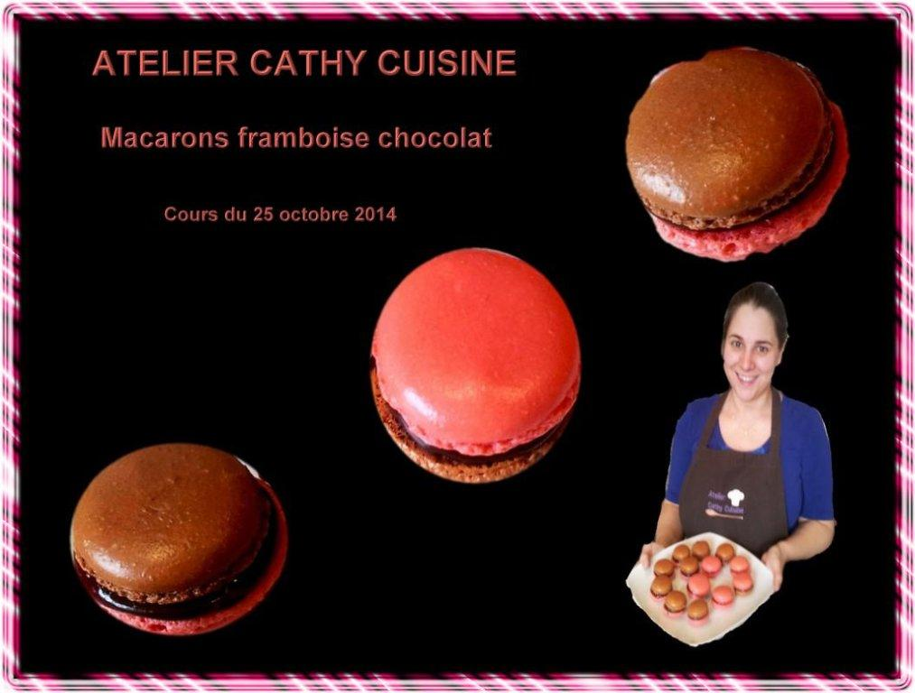 Macarons chocolat et framboises