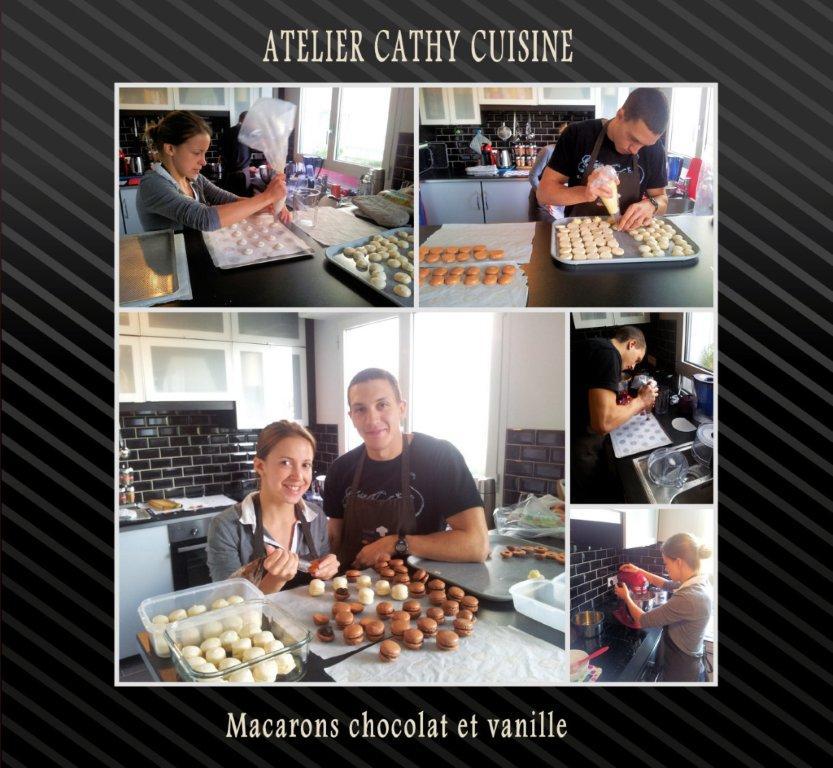 Cours macarons chocolat vanille