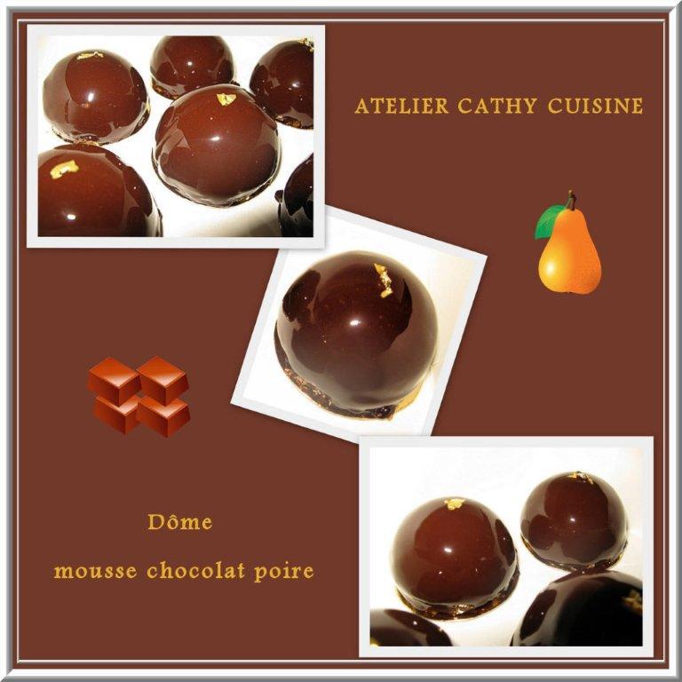 Dôme mousse chocolat-poire
