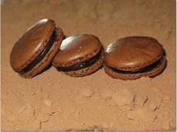 Macarons chocolat/gingembre