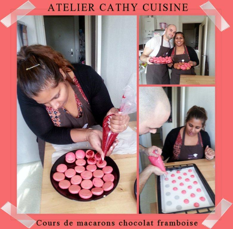 Cours Macarons chocolat framboise