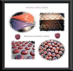 Macarons framboise-violette