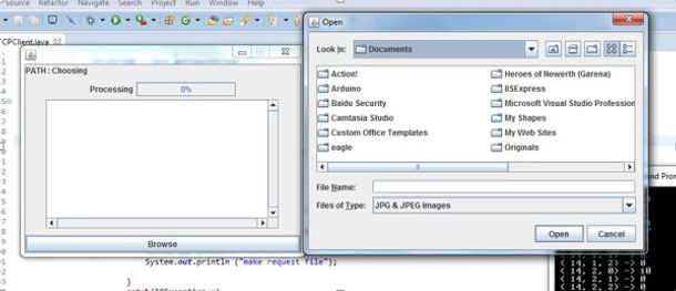 TCP Client & Server tranmission of data in Java