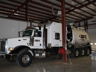 New additions to our growing fleet! Brand new 2016 Peterbilt hydrovac trucks