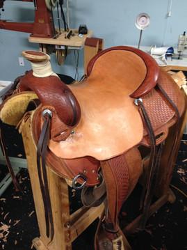 Saddle in progress