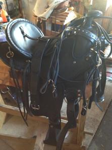 Beautiful black leather saddle