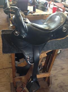 Black Leather Saddle