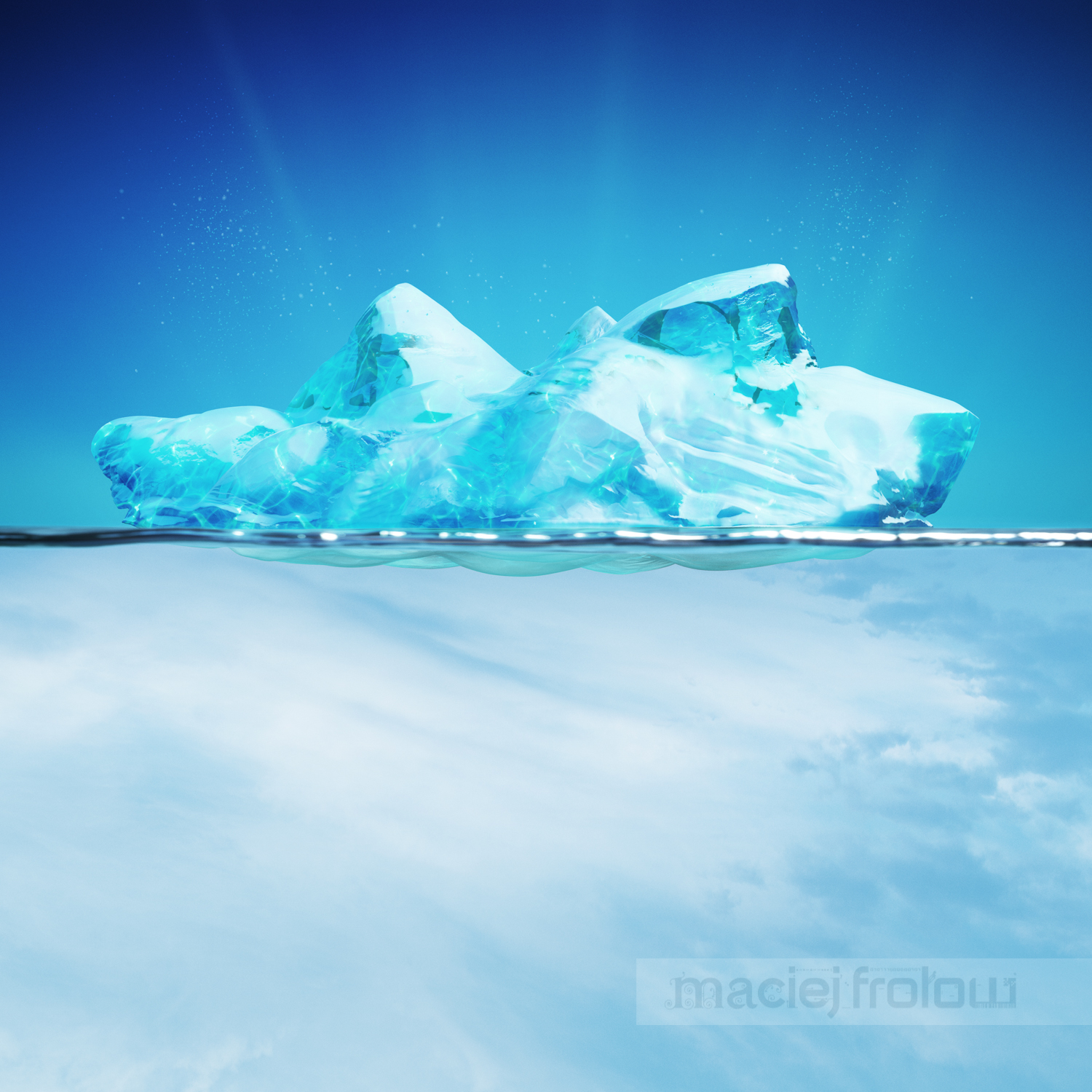 Illustration MaciejFrolow 3D iceberg