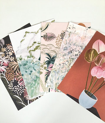 A5 POSTCARDS, 5 PACK