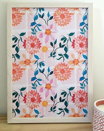 Sunflower Tiles | Art Print