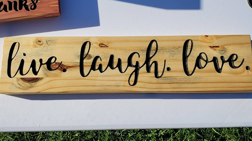 Live Laugh Love Wall Sign