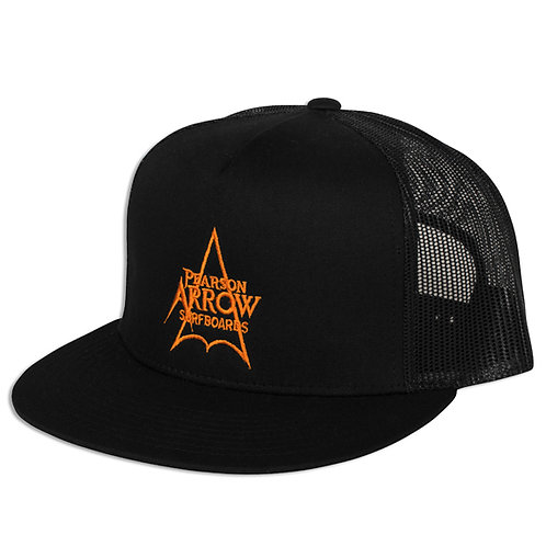 ARROW LOGO TRUCKER HATS in black
