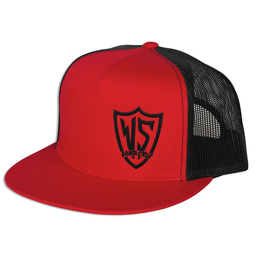 "ARROW ""WEST-SIDE"" TRUCKER HAT (Red/BLK)"