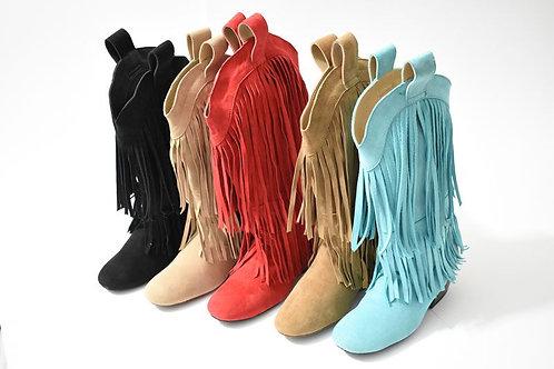Fringe - Suede Line Dance Boots