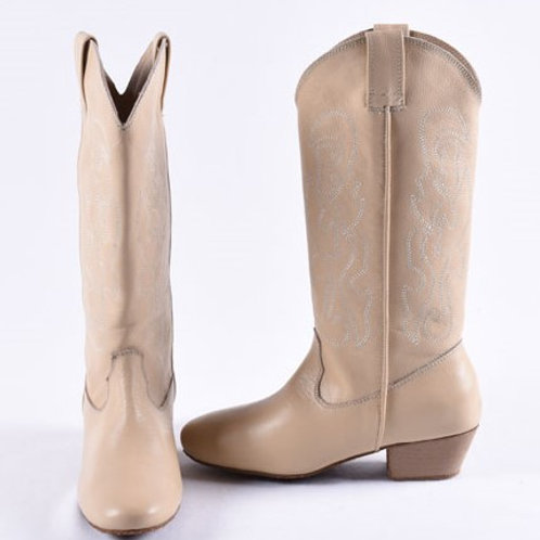 Leather Line Dance Boots