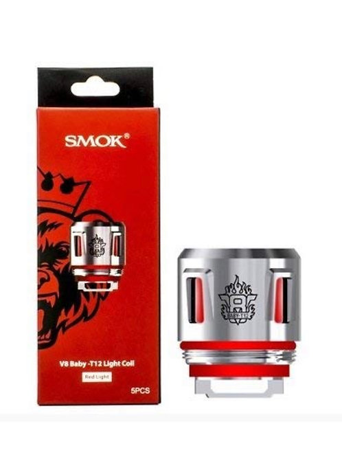 SMOK V8 Baby T12 RED Light Replacement Coils 0.15 Ohm (50-90W) (5 x Coil (Full P
