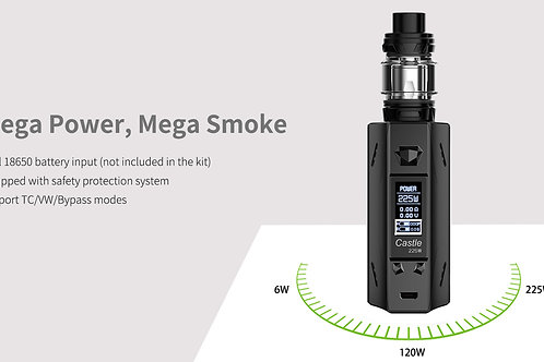 Castle 225w mod kit black colour