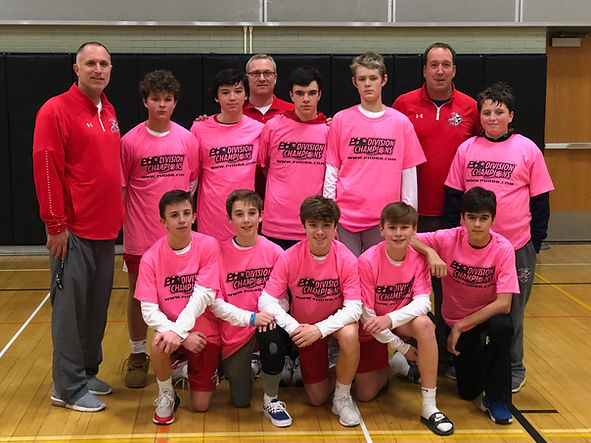 8th Grade winnning Holiday Hoopfest 2019