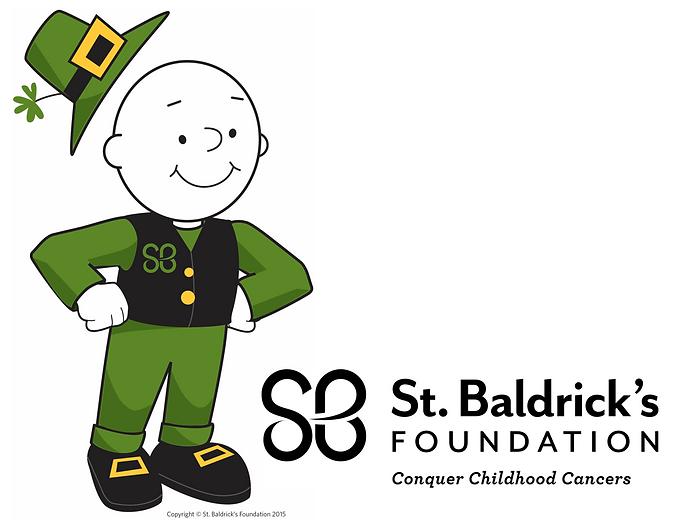 Bald guy and St Baldricks logo.PNG