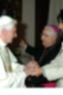 con Benedetto XVI papa emerito della Chiesa cattolica