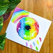 Rainbow Pride Donut