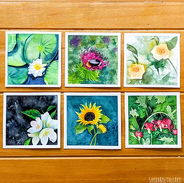 Mini Watercolor Flower Collection