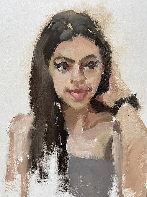 """portrait study of a girl"""
