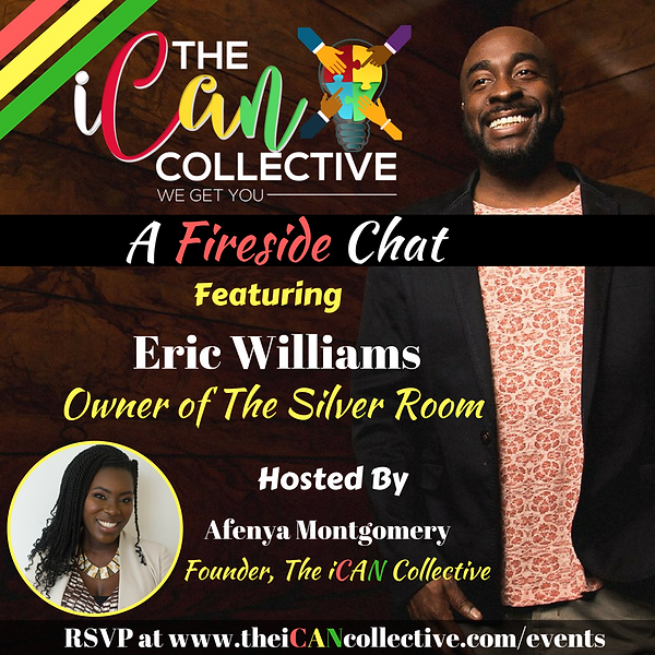 Eric Williams silver room Ican collective