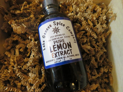 Pure Lemon Extract  1 oz