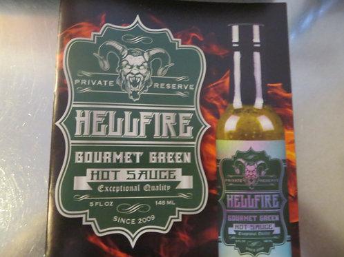 Hellfire Gourmet Green Hot Sauce
