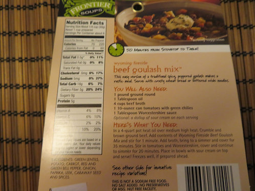 Wyoming Fireside Beef Goulash Mix