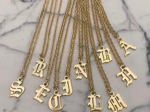 Gold Plated Inital Necklace