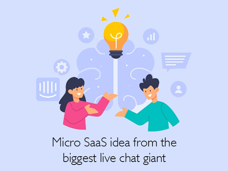Intercom - Micro SaaS idea from the biggest live chat giant!