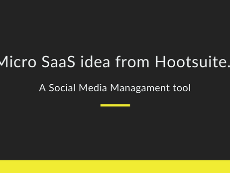 Micro SaaS ideas from Hootsuite | Top Social media management tool