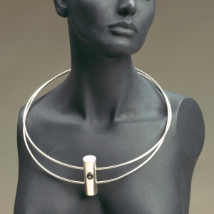 Double-Ring Sterling Necklace
