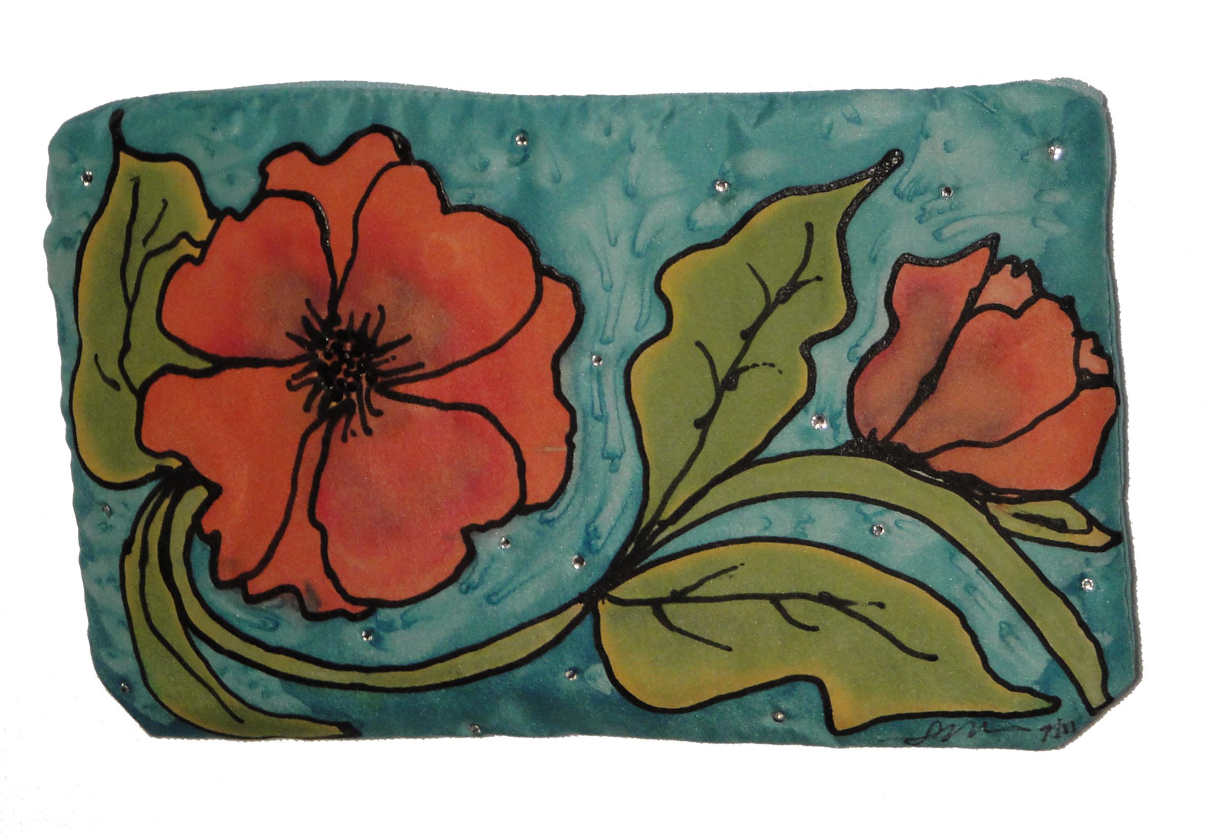 Silk Floral Bag